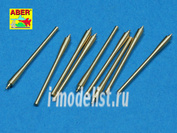 350 L-40 Aber 1/350 Set of 9 pcs  152mm barrels for ships Richeulieu, Jean Bart & Galissonniere clas crusier