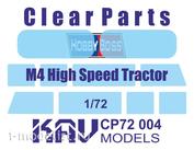 CP72 004 KAV Models 1/72 Остекление для M4 High Speed Tractor (Hobby Boss)
