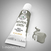 LS-18 Wilder EARTHY NEUTRAL. Paint special quick-drying, based on linseed oil. Volume: 20 ml. For all types of toning.