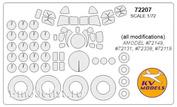72207 KV Models 1/72 Mask (all versions)