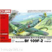 AZ7530 AZ Model 1/72 Messerschmitt Bf 109F-2