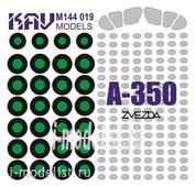 M144 019 KAV models 1/144 Paint mask on A-350 (Zvezda)