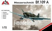 72401 AMG Models 1/72 Самолет Messerschmitt Bf.109A-1