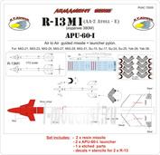 RVAC72005 R.V. AIRCRAFT 1/72 R-13M1+APU-60-I