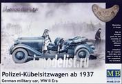 35101 MasterBox 1/35 Polizei-Kübelsitzwagen ab 1937, German military car, Ww Ii