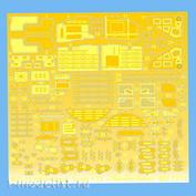 MD7212 Metallic Details 1/72 Колесные отсеки для M&G-25