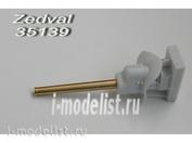 35139 Zedval 1/35 76 мм ствол Л-11 c бронемаской Т-34-76 образца 1940 г.