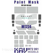 M72 061 KAV models 1/72 Окрасочная маска на остекление М1224 Maxx Pro MEAP