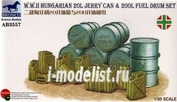 AB3557 Bronco 1/35 Wwii Hungarian 20L Jerry Can & 200L Fuel Drum