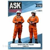 ASK48011 All Scale Kits (ASK) 1/48 Набор Пилоты ВВС/ВКС России в ВМСК (2 фигуры)