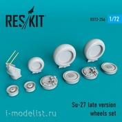 RS72-0256 RESKIT 1/72 Смоляные колёса для Su-27, поздняя версия