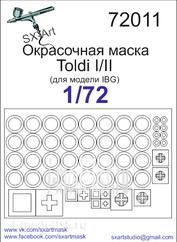 72011 SX-Art 1/72 Окрасочная маска Toldi I/II (для модели IBG)