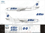 738-012 Ascensio 1/144 Scales the Decal on the plane Boeng 737-800s (UTair)