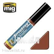 AMIG1254 Ammo Mig STREAKINGBRUSHER RUST (Краска с тонкой кистью аппликатором)