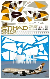380-01 PasDecals 1/144 Decal on Airbus A380 Etihad