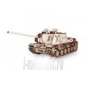 1-04 EWA Коллекционная механическая модель из древесины Танк ИСУ-152