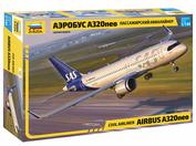 7037 Zvezda 1/144 Airbus a320neo Passenger airliner