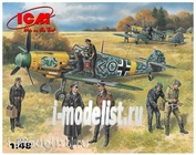 48803 ICM 1/48 Bf-109F-2 with German air Force pilots and technicians