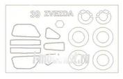 72560 KV Models 1/72 Набор окрасочных масок для остекления модели Суххой-39 + маски на диски и колеса