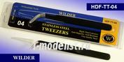 TT-04 Wilder Пинцет из нержавеющей стали, антимагнитный, тонкий, острый. Профессиональный инструмент.