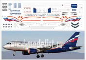319-01 PasDecals 1/144 Декаль на A319 Аэрофлот Российские Авиалинии