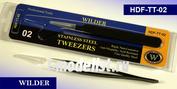 TT-02 Wilder Пинцет из нержавеющей стали, антимагнитный, тонкий, острый. Профессиональный инструмент.