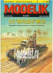 MD9/10 Modelik 1/25 A 12 MATILDA II MK III