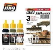 AMIG7102 Ammo Mig Набор акриловых красок AFRIKA KORPS (Африканский корпус)