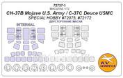 72737-1 KV models 1/72 CH-37B Mojave U.S. Army / CH-37C Deuce USMC (Special Hobby #72075, #72172) - (Double sided) + wheels masks