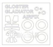 72548 KV Models 1/72 Gloster J-8A / Gladiator Mk.I / Mk.II + маски на диски и колеса