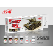 C3006 ICM Set of acrylic paints for Soviet armored vehicles 2 MB