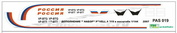 pas019 PasDecals Decals 1/144 Scales the Airbus A319 A/TO
