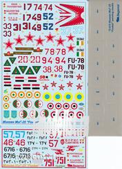 72015 Begemot 1/72 Декаль М&Г-25