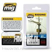 AMIG8017 Ammo Mig RIGGING – MEDIUM FINE 0.02 MM / средне-тонкая оснастка