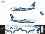 735-014 Ascensio 1/144 Декаль для boein 737-500 (Aurora)