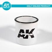 AK908C AK Interactive White ceramic mug with AK LOGO / AK LOGO WHITE CERAMIC MUG