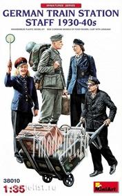 38010 MiniArt 1/35 German Railway station Personnel 1930-40