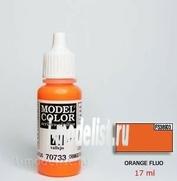 70733 Vallejo Краска акриловая `Model Color`Оранжевый флюоресцентный / Orange Fluo