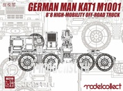 UA72119 Modelcollect 1/72 German MAN KAT1M1001 8*8 HIGH-Mobility off-road truck