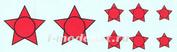 72006 KV Decol 1/72  Российские звезды с окантовкой
