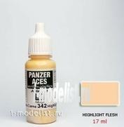 70342 Vallejo Краска акриловая `Panzer Aces`  Телесный (выделение оттенка) / Highlight Flesh