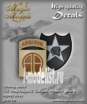 MM35044 Magic Models 1/35 Декаль US Army Badges & Insignia. Modern. Part 1