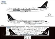 738-010 Ascensio 1/144 Декаль на самолет боенг 737-800 (star alance)