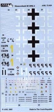 AMLD 72 029 AML 1/72 Декаль для Messerschmitt Bf 109-K4, Part II