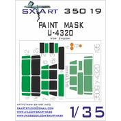 35019 SX-Art 1/35 Painting mask U-4320 (for model Zvezda)