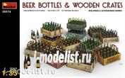 35574 MiniArt 1/35 Beer bottles & Wooden Crates