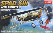 12446 Academy 1/72 Spad XIII WWI Fighter