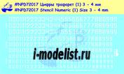 72017 New Penguin 1/72 Декаль Цифры трафарет 3-4 мм