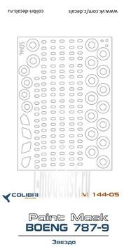 14405 ColibriDecals 1/144 Маска для Боенг 787-9 (Звезда)