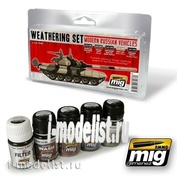 AMIG7147 Ammo Mig MODERN RUSSIAN VEHICLES WEATHERING SET (набор для везеринга современной российской бронетехники)